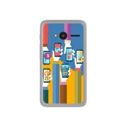 "Funda Gel Tpu para Orange Rise 31 / Alcatel Pixi 4 (4"") Diseño Apps Dibujos"