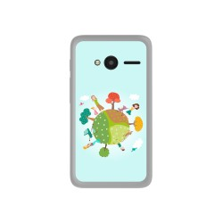 "Funda Gel Tpu para Orange Rise 31 / Alcatel Pixi 4 (4"") Diseño Familia Dibujos"