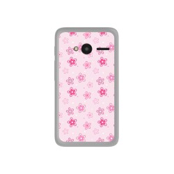 "Funda Gel Tpu para Orange Rise 31 / Alcatel Pixi 4 (4"") Diseño Flores Dibujos"