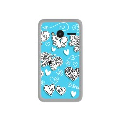 "Funda Gel Tpu para Orange Rise 31 / Alcatel Pixi 4 (4"") Diseño Mariposas Dibujos"