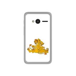 """Funda Gel Tpu para Orange Rise 31 / Alcatel Pixi 4 (4"""") Diseño Leones Dibujos"""