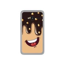 "Funda Gel Tpu para Orange Rise 31 / Alcatel Pixi 4 (4"") Diseño Helado Chocolate Dibujos"