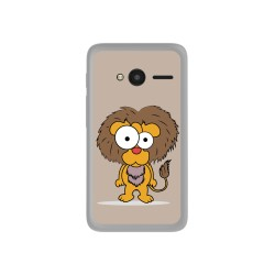 "Funda Gel Tpu para Orange Rise 31 / Alcatel Pixi 4 (4"") Diseño Leon Dibujos"