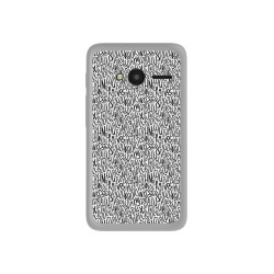 "Funda Gel Tpu para Orange Rise 31 / Alcatel Pixi 4 (4"") Diseño Letras Dibujos"