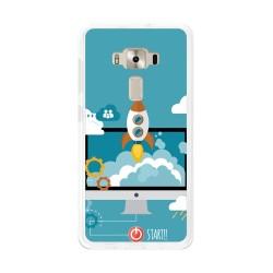 "Funda Gel Tpu para Asus Zenfone 3 5.2"" Ze520Kl Diseño Cohete Dibujos"