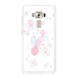 "Funda Gel Tpu para Asus Zenfone 3 Deluxe 5.7"" Zs570Kl Diseño Flores-Minimal Dibujos"