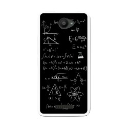 Funda Gel Tpu para Bq Aquaris U / U Lite Diseño Formulas Dibujos