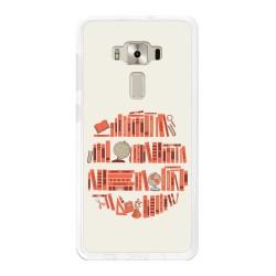 "Funda Gel Tpu para Asus Zenfone 3 Deluxe 5.7"" Zs570Kl Diseño Mundo-Libro Dibujos"