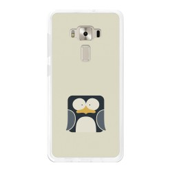 """Funda Gel Tpu para Asus Zenfone 3 Deluxe 5.7"""" Zs570Kl Diseño Pingüino Dibujos"""
