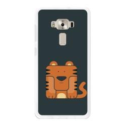 "Funda Gel Tpu para Asus Zenfone 3 Deluxe 5.7"" Zs570Kl Diseño Tigre Dibujos"