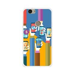 Funda Gel Tpu para Huawei Nova Diseño Apps Dibujos
