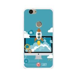 Funda Gel Tpu para Huawei Nova Diseño Cohete Dibujos