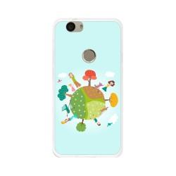 Funda Gel Tpu para Huawei Nova Diseño Familia Dibujos