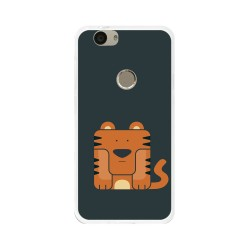 Funda Gel Tpu para Huawei Nova Diseño Tigre Dibujos