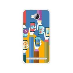 Funda Gel Tpu para Huawei Y3 II Diseño Apps Dibujos