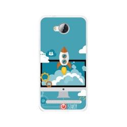 Funda Gel Tpu para Huawei Y3 II Diseño Cohete Dibujos