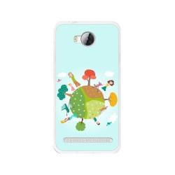 Funda Gel Tpu para Huawei Y3 II Diseño Familia Dibujos
