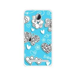 Funda Gel Tpu para Huawei Y3 II Diseño Mariposas Dibujos