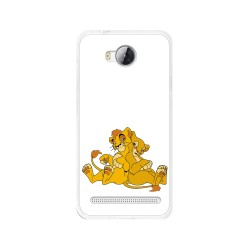 Funda Gel Tpu para Huawei Y3 II Diseño Leones Dibujos