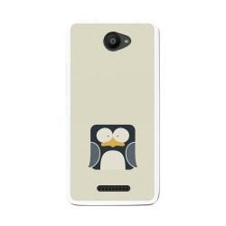 Funda Gel Tpu para Bq Aquaris U / U Lite Diseño Pingüino Dibujos
