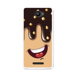 Funda Gel Tpu para Bq Aquaris U / U Lite Diseño Helado Chocolate Dibujos