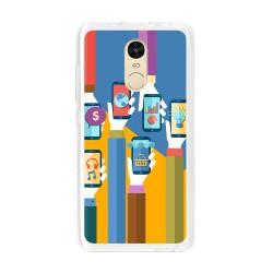 Funda Gel Tpu para Xiaomi Redmi Note 4 / Note 4 Pro Diseño Apps Dibujos