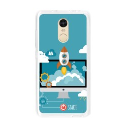 Funda Gel Tpu para Xiaomi Redmi Note 4 / Note 4 Pro Diseño Cohete Dibujos