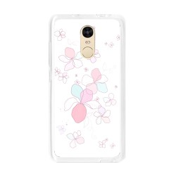 Funda Gel Tpu para Xiaomi Redmi Note 4 / Note 4 Pro Diseño Flores-Minimal Dibujos