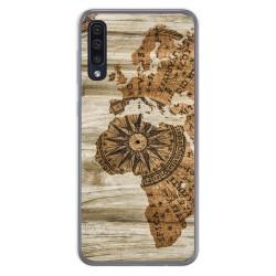 Funda Gel Tpu para Samsung Galaxy A50 diseño Madera 07 Dibujos