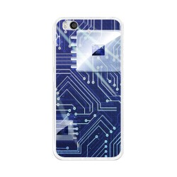 Funda Gel Tpu para Xiaomi Mi 5S Diseño Circuito Dibujos