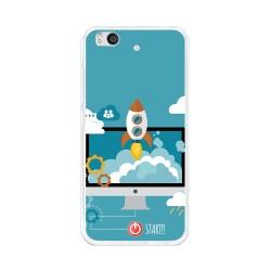 Funda Gel Tpu para Xiaomi Mi 5S Diseño Cohete Dibujos