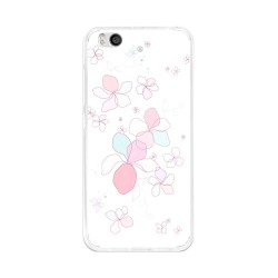 Funda Gel Tpu para Xiaomi Mi 5S Diseño Flores-Minimal Dibujos