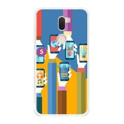 Funda Gel Tpu para Xiaomi Mi 5S Plus Diseño Apps Dibujos
