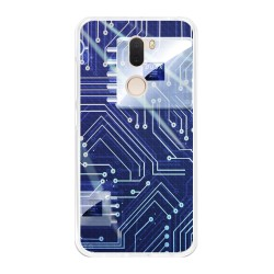 Funda Gel Tpu para Xiaomi Mi 5S Plus Diseño Circuito Dibujos