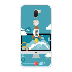 Funda Gel Tpu para Xiaomi Mi 5S Plus Diseño Cohete Dibujos