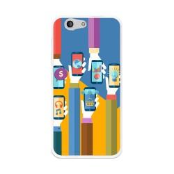 Funda Gel Tpu para Zte Blade A512 Diseño Apps Dibujos
