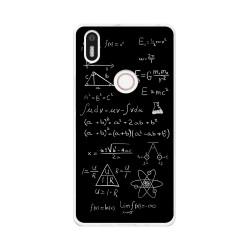 Funda Gel Tpu para Bq Aquaris X5 Plus Diseño Formulas Dibujos