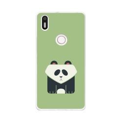 Funda Gel Tpu para Bq Aquaris X5 Plus Diseño Panda Dibujos
