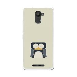 Funda Gel Tpu para Bq Aquaris U Plus Diseño Pingüino Dibujos