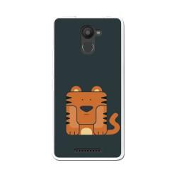 Funda Gel Tpu para Bq Aquaris U Plus Diseño Tigre Dibujos
