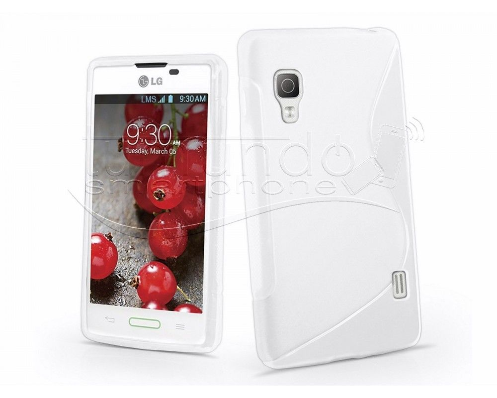 Funda Gel Tpu Lg Optimus L5 II E460 S Line Color Blanca