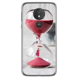Funda Gel Tpu para Motorola Moto G7 Power diseño Reloj Dibujos