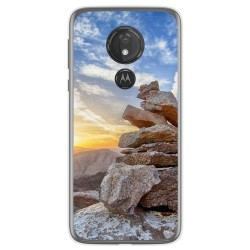 Funda Gel Tpu para Motorola Moto G7 Power diseño Sunset Dibujos