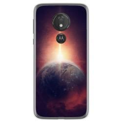 Funda Gel Tpu para Motorola Moto G7 Power diseño Tierra Dibujos