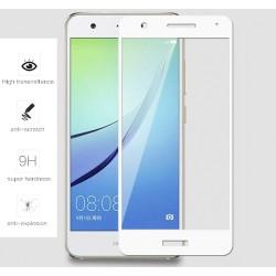 Protector Cristal Templado Frontal Completo Blanco para Huawei Nova Vidrio