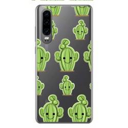 Funda Gel Transparente para Huawei P30 diseño Cactus Dibujos