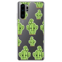 Funda Gel Transparente para Huawei P30 Pro diseño Cactus Dibujos