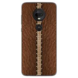 Funda Gel Tpu para Motorola Moto G7 / G7 Plus diseño Cuero 01 Dibujos