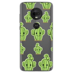 Funda Gel Transparente para Motorola Moto G7 / G7 Plus diseño Cactus Dibujos