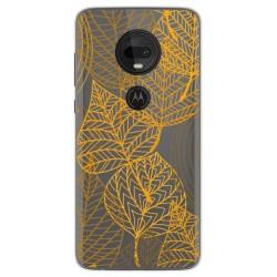 Funda Gel Transparente para Motorola Moto G7 / G7 Plus diseño Hojas Dibujos